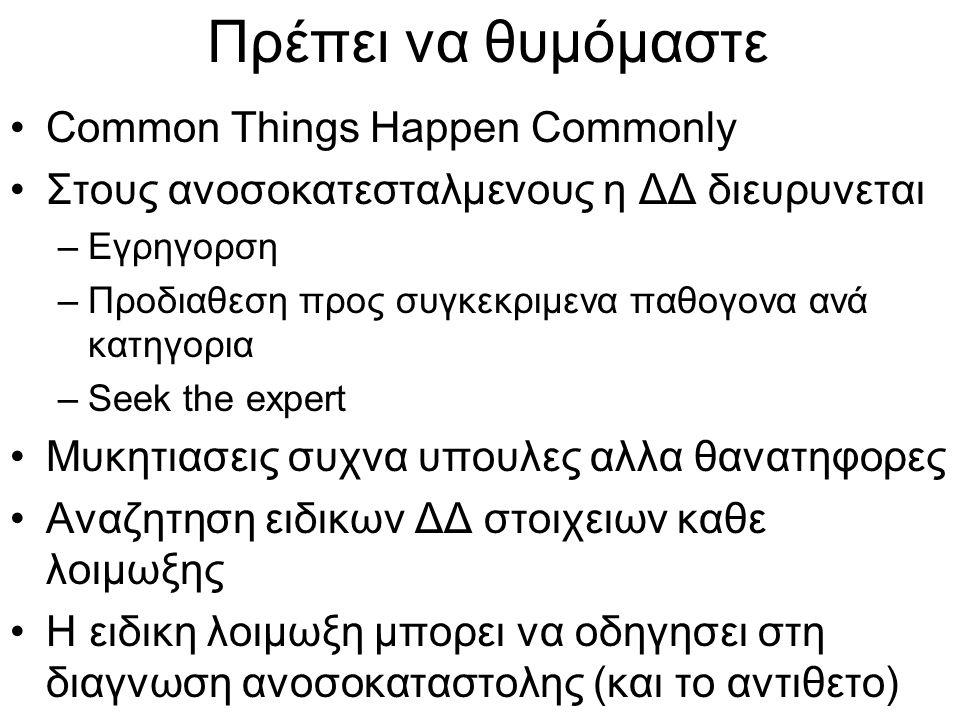 Πρέπει να θυμόμαστε Common Things Happen Commonly