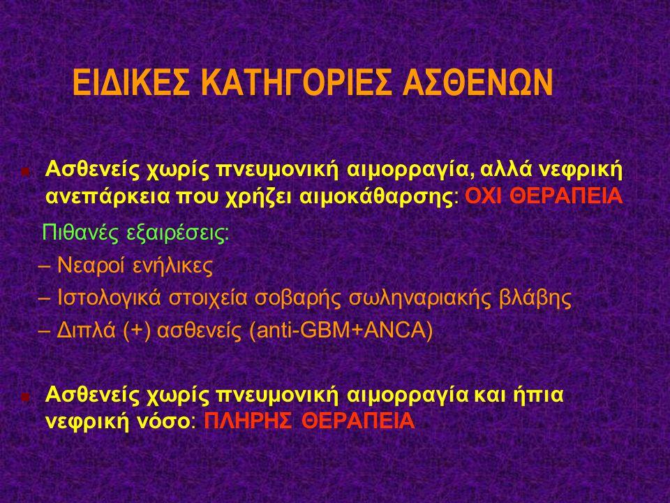 ΕΙΔΙΚΕΣ ΚΑΤΗΓΟΡΙΕΣ ΑΣΘΕΝΩΝ