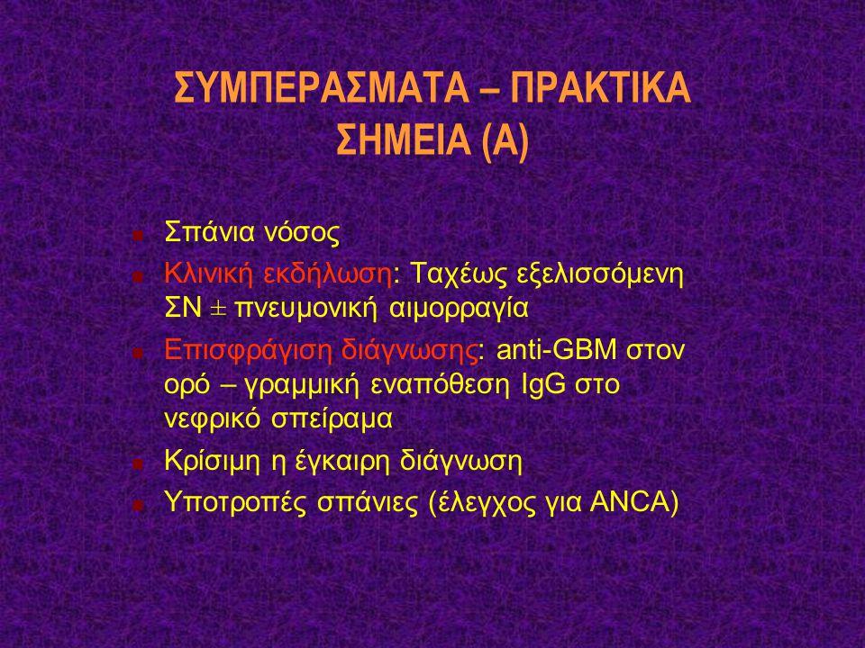 ΣΥΜΠΕΡΑΣΜΑΤΑ – ΠΡΑΚΤΙΚΑ ΣΗΜΕΙΑ (Α)