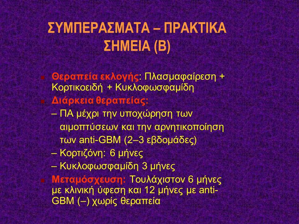 ΣΥΜΠΕΡΑΣΜΑΤΑ – ΠΡΑΚΤΙΚΑ ΣΗΜΕΙΑ (Β)