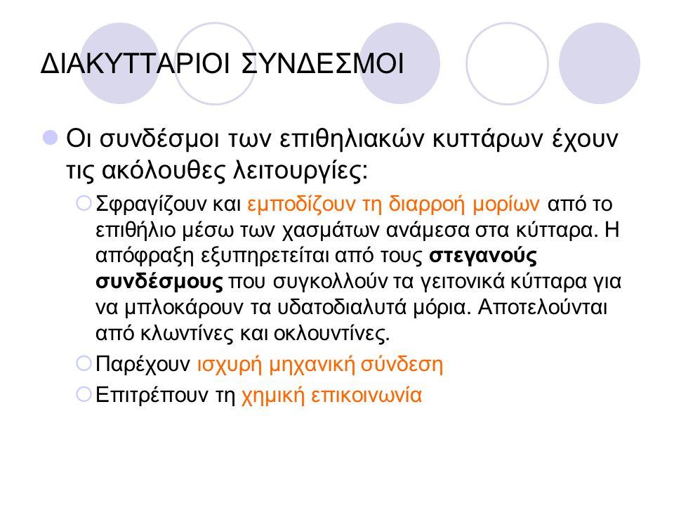 ΔΙΑΚΥΤΤΑΡΙΟΙ ΣΥΝΔΕΣΜΟΙ