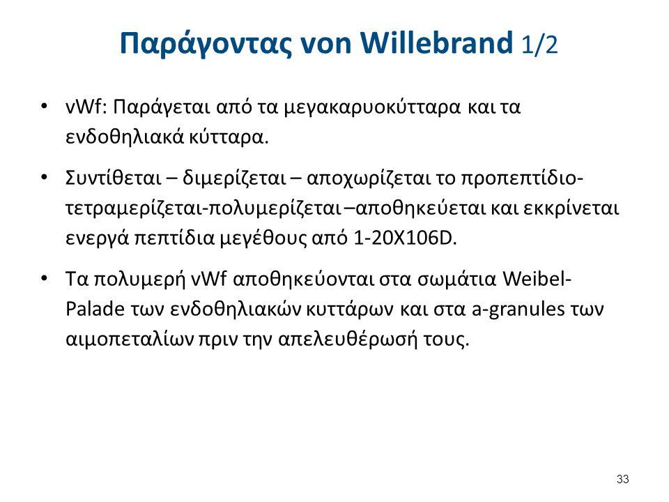 Παράγοντας von Willebrand 2/2