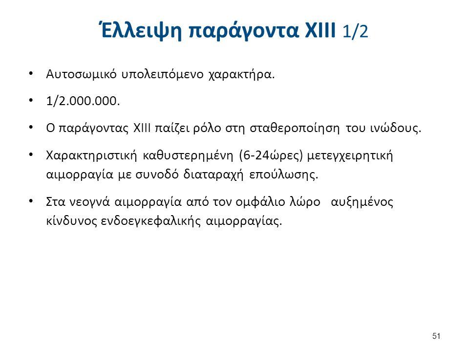 Έλλειψη παράγοντα XIII 2/2