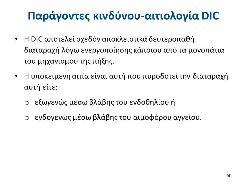 Καταστάσεις που σχετίζονται με DIC 1/2