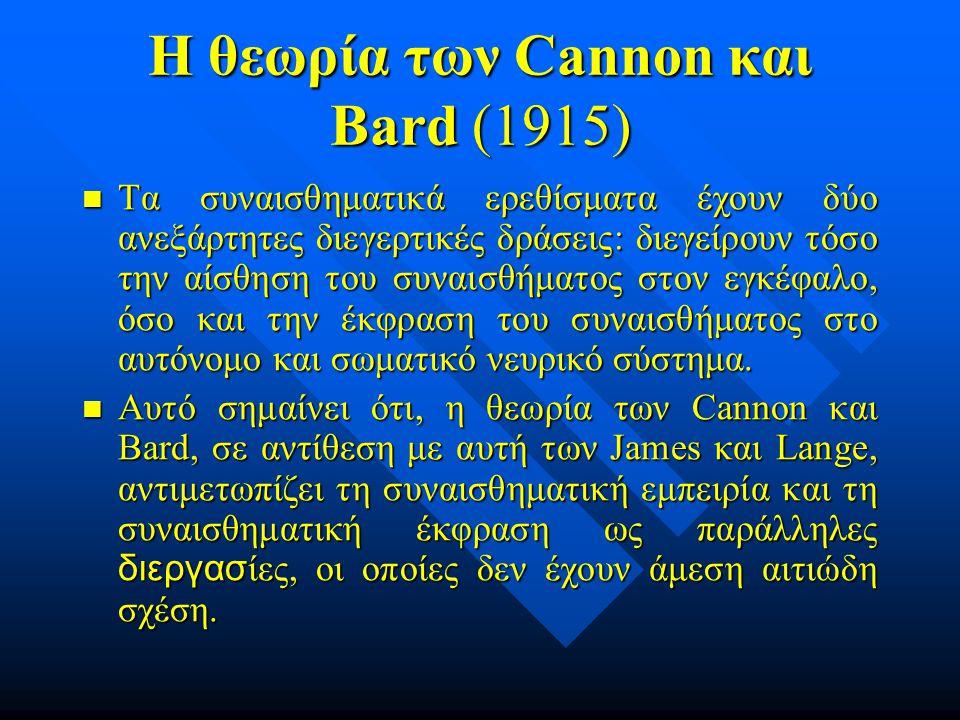 Η θεωρία των Cannon και Bard (1915)
