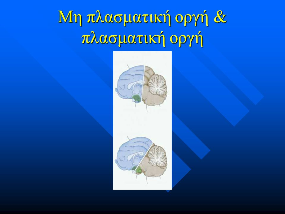 Μη πλασματική οργή & πλασματική οργή