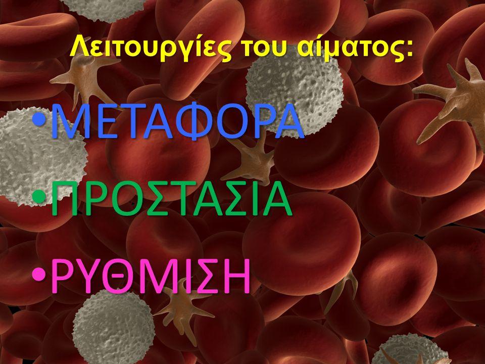 Λειτουργίες του αίματος: