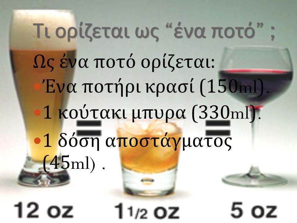 Τι ορίζεται ως ένα ποτό ;