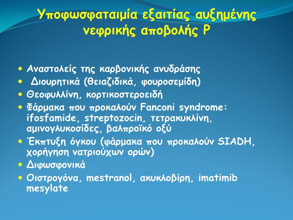 Υποφωσφαταιμία εξαιτίας αυξημένης νεφρικής αποβολής Ρ