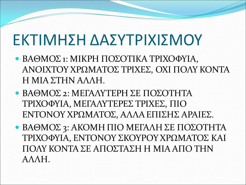 ΕΚΤΙΜΗΣΗ ΔΑΣΥΤΡΙΧΙΣΜΟΥ