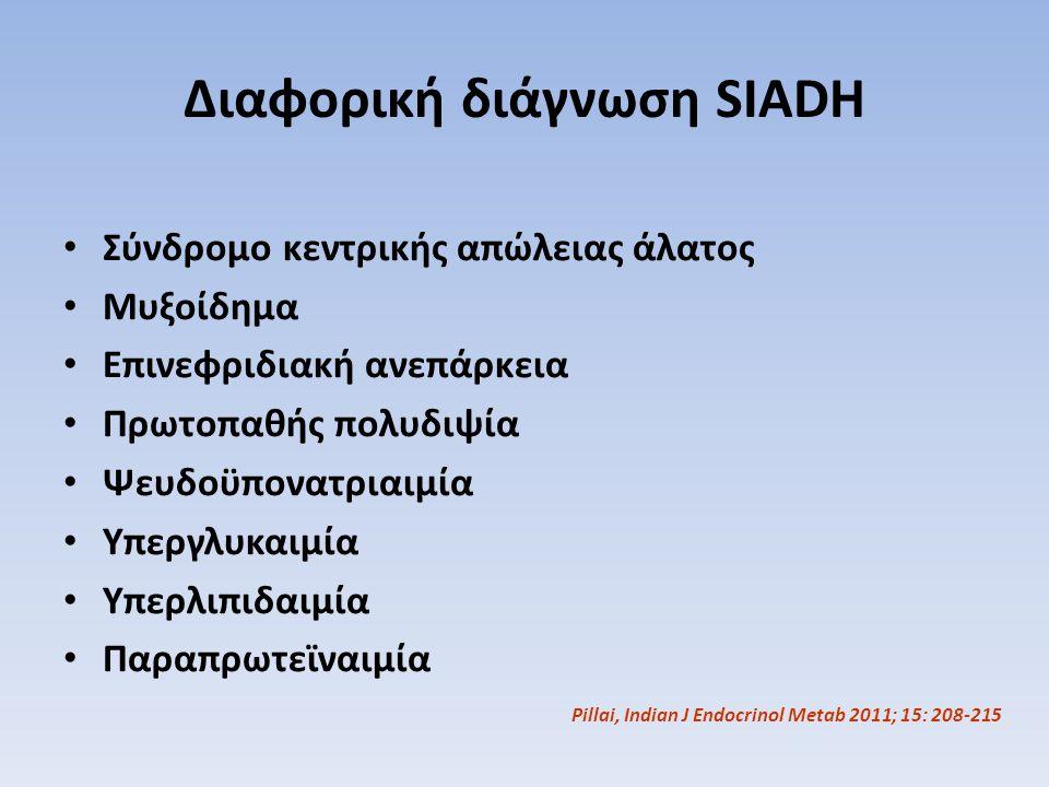 Διαφορική διάγνωση SIADH