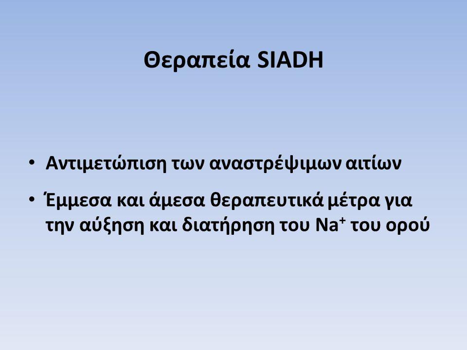 Θεραπεία SIADH Αντιμετώπιση των αναστρέψιμων αιτίων