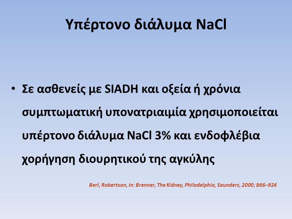 Υπέρτονο διάλυμα NaCl