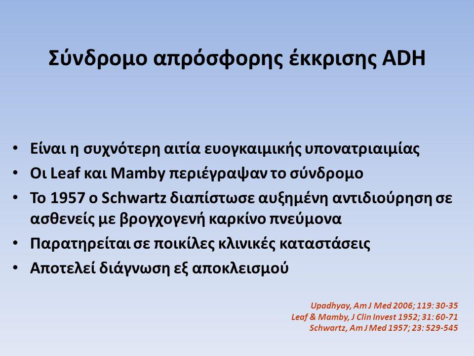 Σύνδρομο απρόσφορης έκκρισης ADH