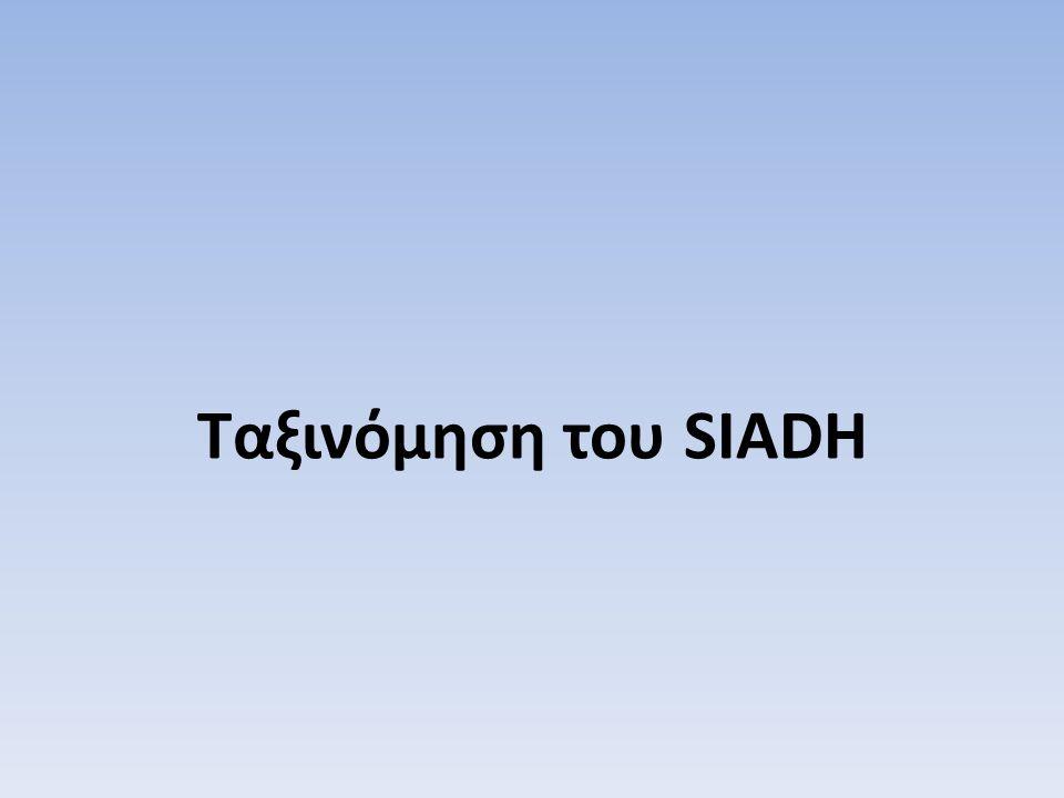 Ταξινόμηση του SIADH