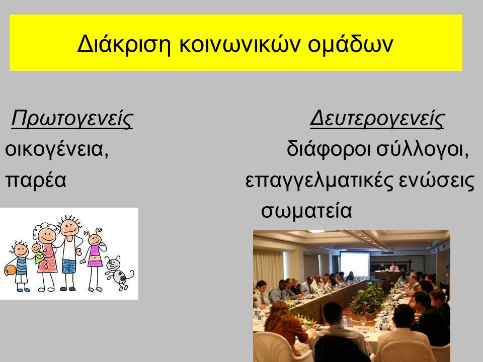 Διάκριση κοινωνικών ομάδων