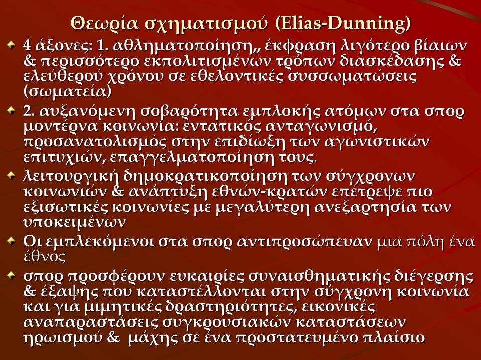 Θεωρία σχηματισμού (Elias-Dunning)