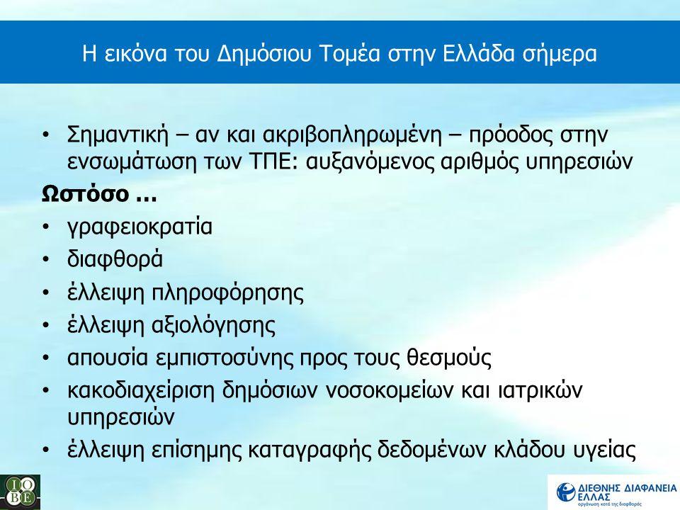 Η εικόνα του Δημόσιου Τομέα στην Ελλάδα σήμερα