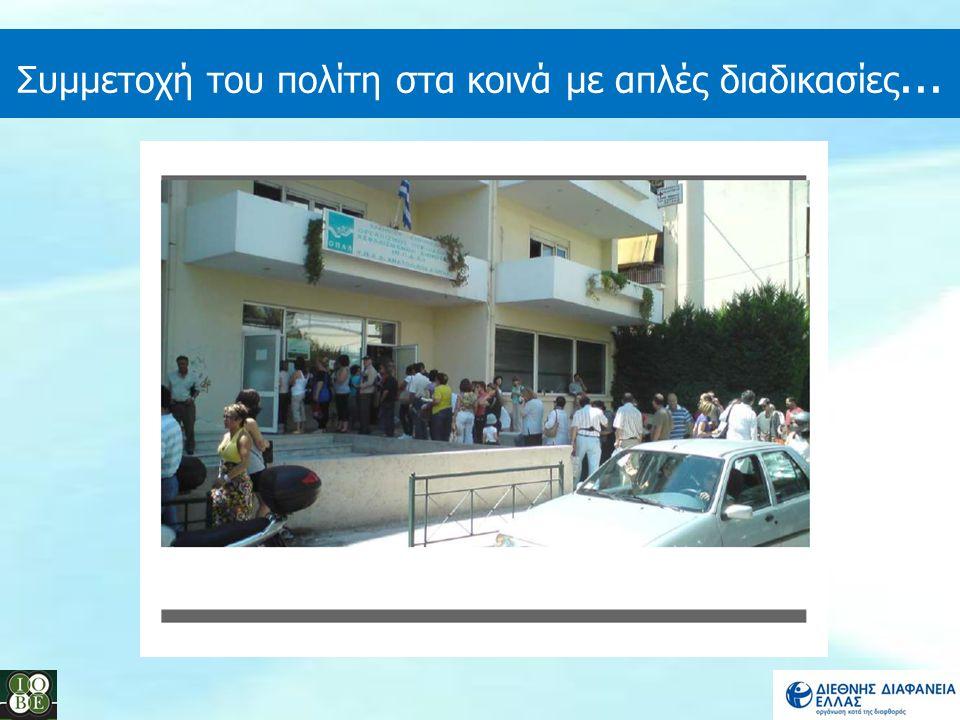 Συμμετοχή του πολίτη στα κοινά με απλές διαδικασίες...