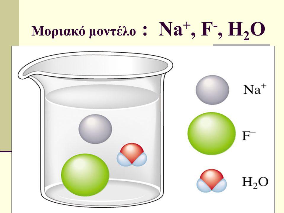 Μοριακό μοντέλο : Na+, F-, H2O