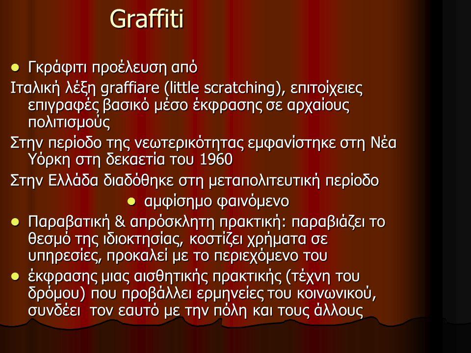 Graffiti Γκράφιτι προέλευση από