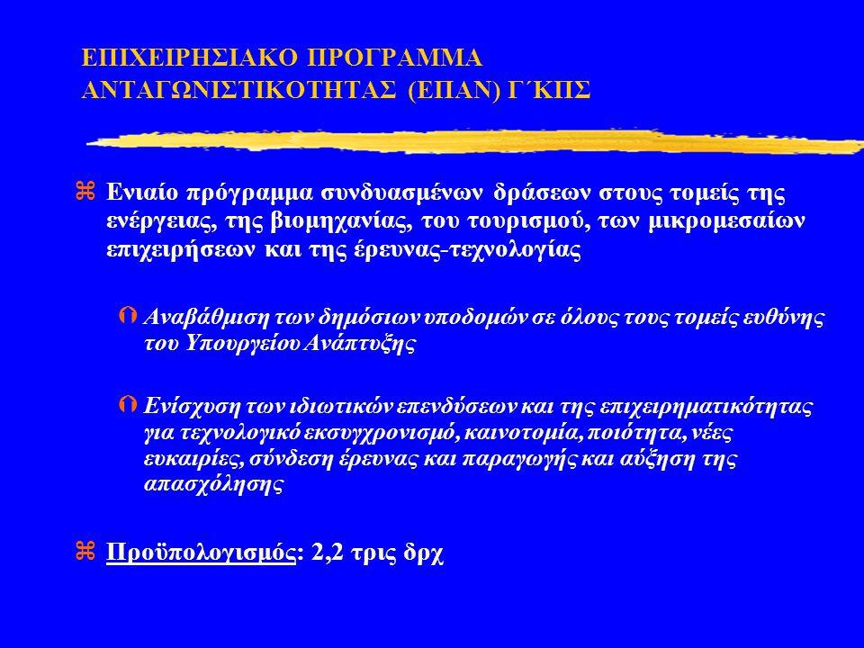 ΕΠΙΧΕΙΡΗΣΙΑΚΟ ΠΡΟΓΡΑΜΜΑ ΑΝΤΑΓΩΝΙΣΤΙΚΟΤΗΤΑΣ (ΕΠΑΝ) Γ΄ΚΠΣ