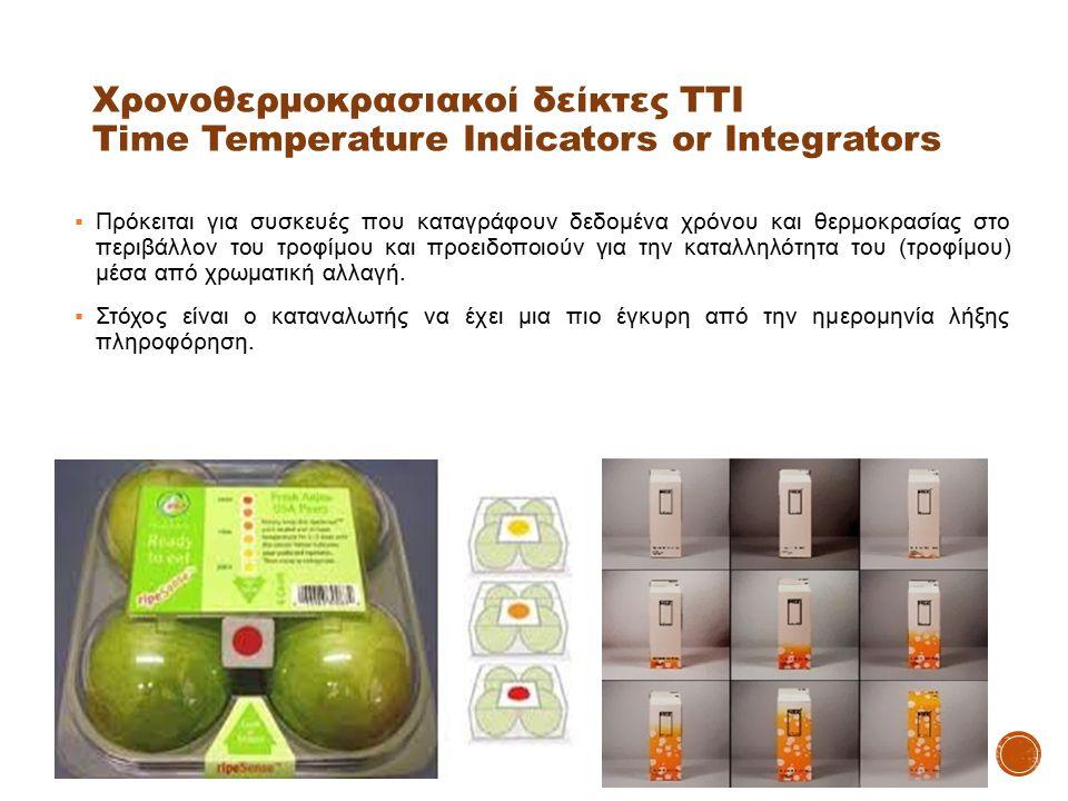 Χρονοθερμοκρασιακοί δείκτες ΤΤΙ Time Temperature Indicators or Integrators