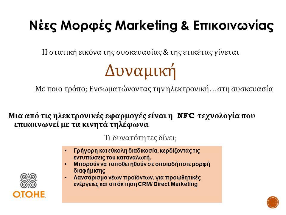 Νέες Μορφές Marketing & Επικοινωνίας