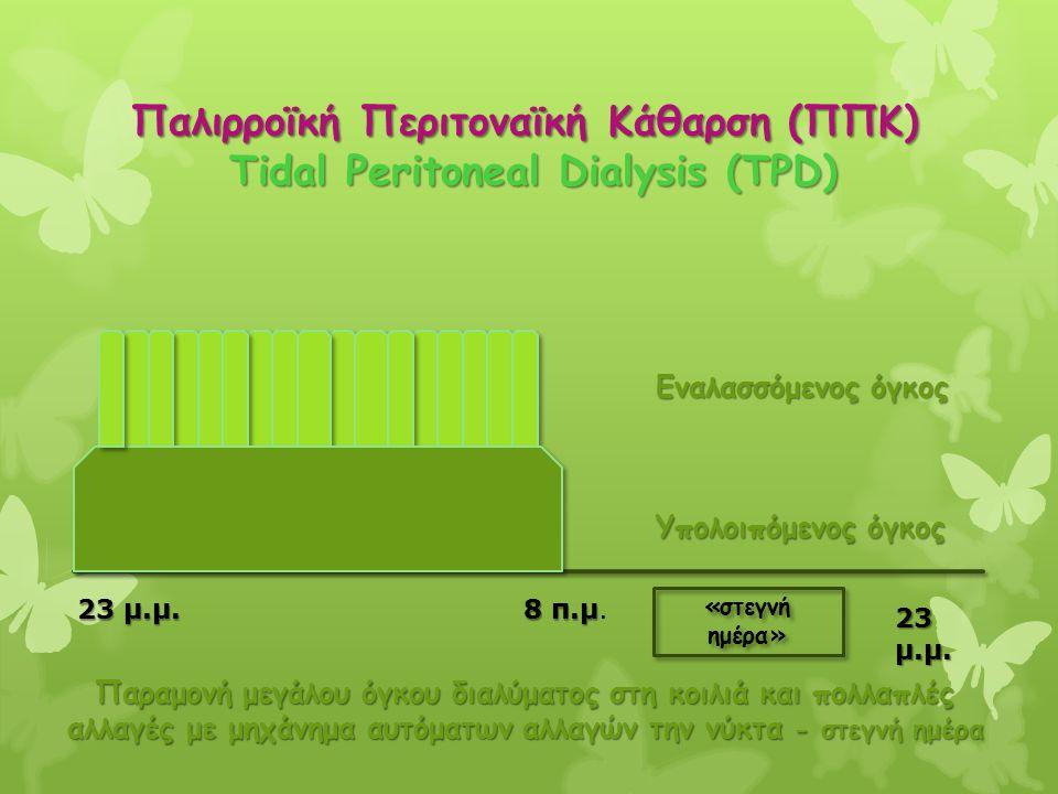 Παλιρροϊκή Περιτοναϊκή Κάθαρση (ΠΠΚ) Tidal Peritoneal Dialysis (TPD)