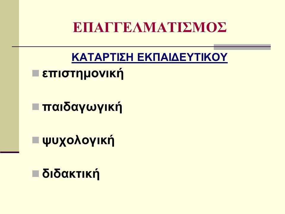 ΚΑΤΑΡΤΙΣΗ ΕΚΠΑΙΔΕΥΤΙΚΟΥ