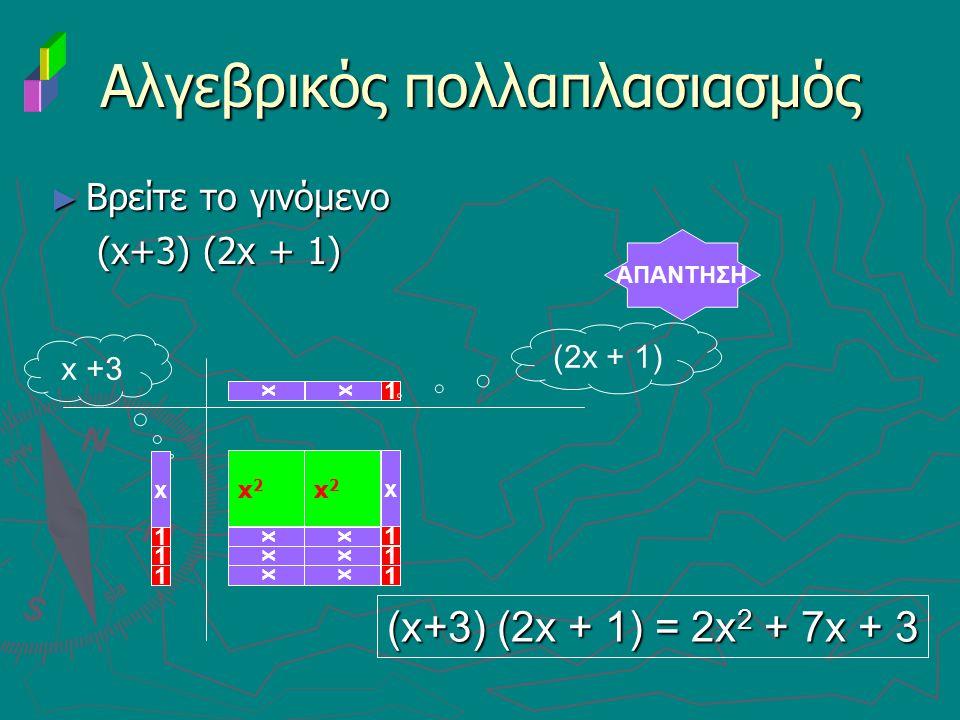 Αλγεβρικός πολλαπλασιασμός