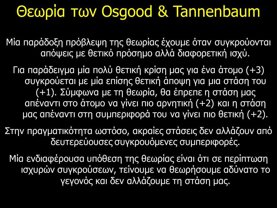Θεωρία των Osgood & Tannenbaum