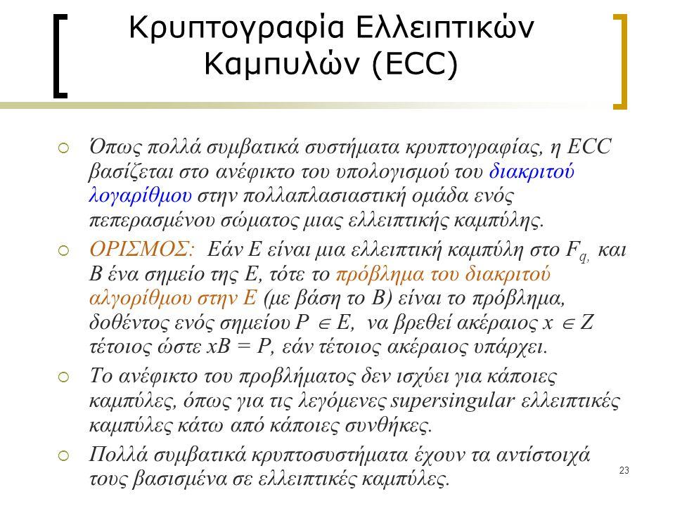 Κρυπτογραφία Ελλειπτικών Καμπυλών (ECC)