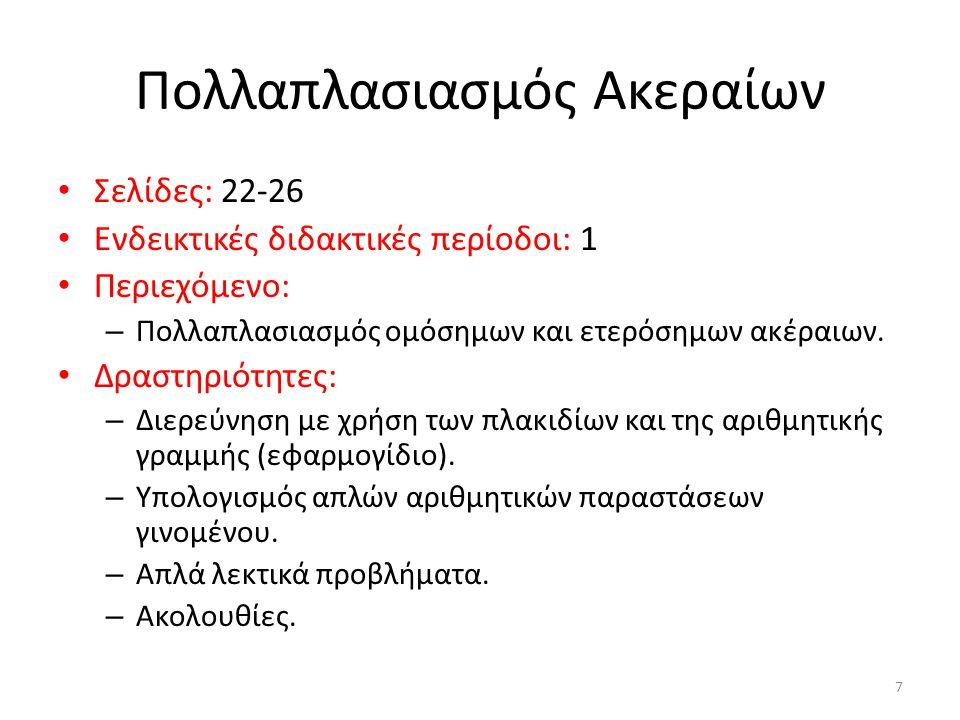 Πολλαπλασιασμός Ακεραίων
