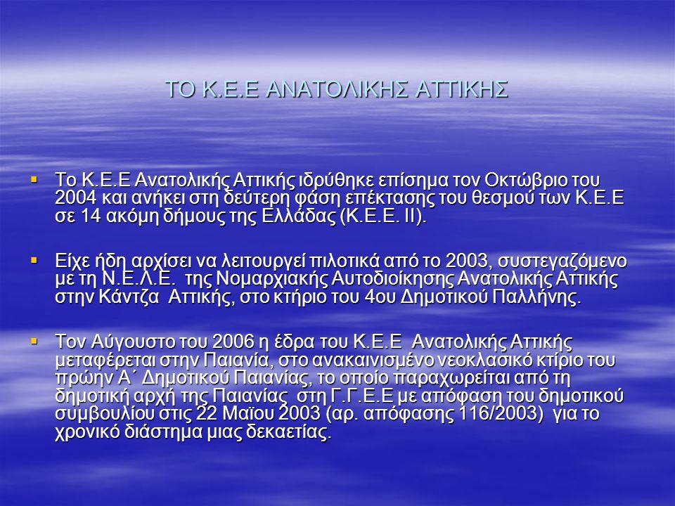 ΤΟ Κ.Ε.Ε ΑΝΑΤΟΛΙΚΗΣ ΑΤΤΙΚΗΣ