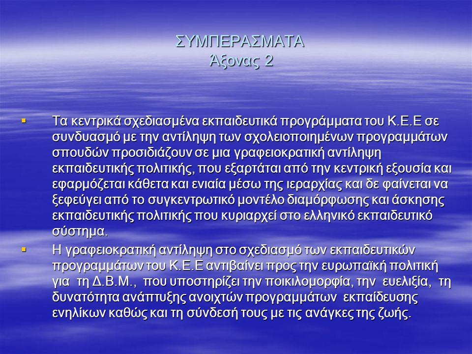 ΣΥΜΠΕΡΑΣΜΑΤΑ Άξονας 2
