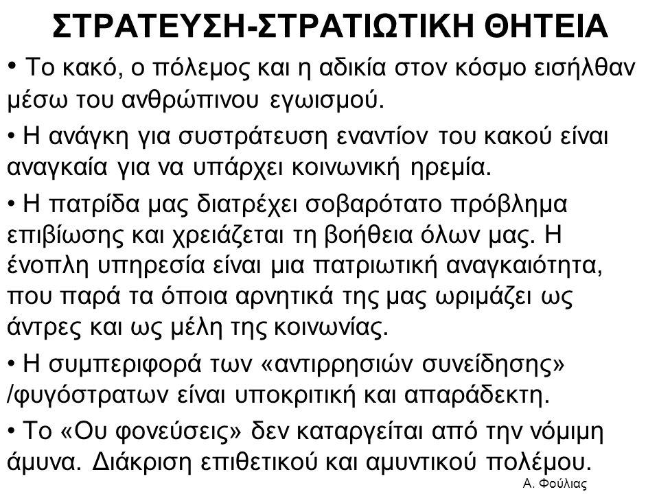 ΣΤΡΑΤΕΥΣΗ-ΣΤΡΑΤΙΩΤΙΚΗ ΘΗΤΕΙΑ