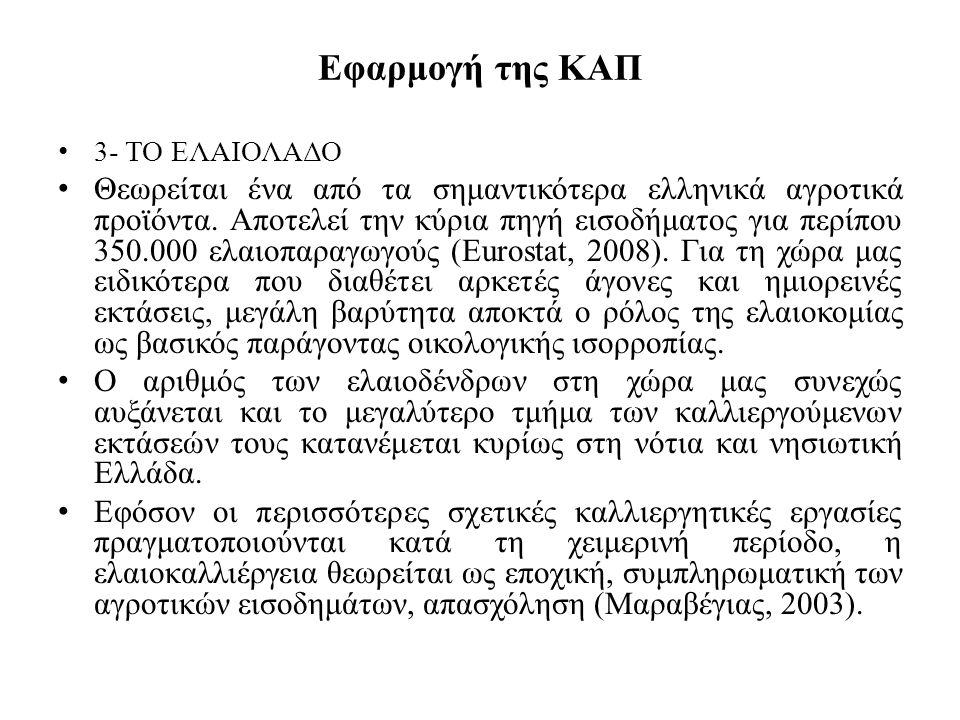 Εφαρμογή της ΚΑΠ 3- ΤΟ ΕΛΑΙΟΛΑΔΟ.