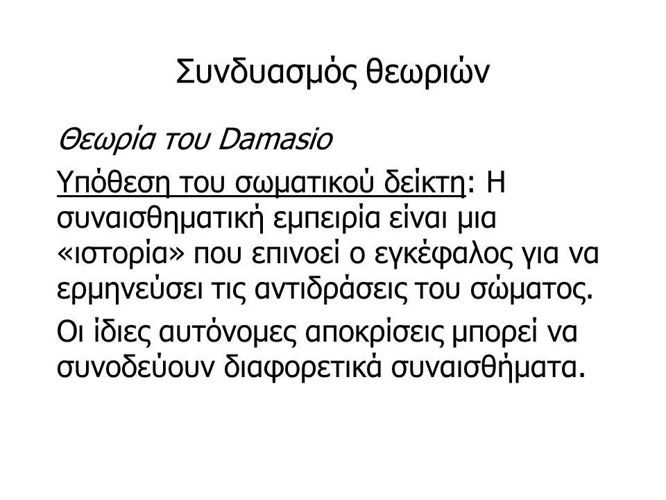 Συνδυασμός θεωριών Θεωρία του Damasio