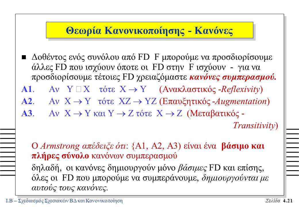 Θεωρία Κανονικοποίησης - Κανόνες