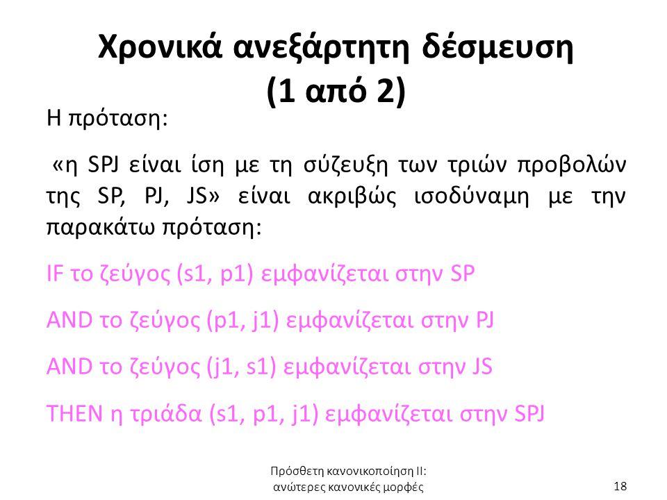 Χρονικά ανεξάρτητη δέσμευση (1 από 2)