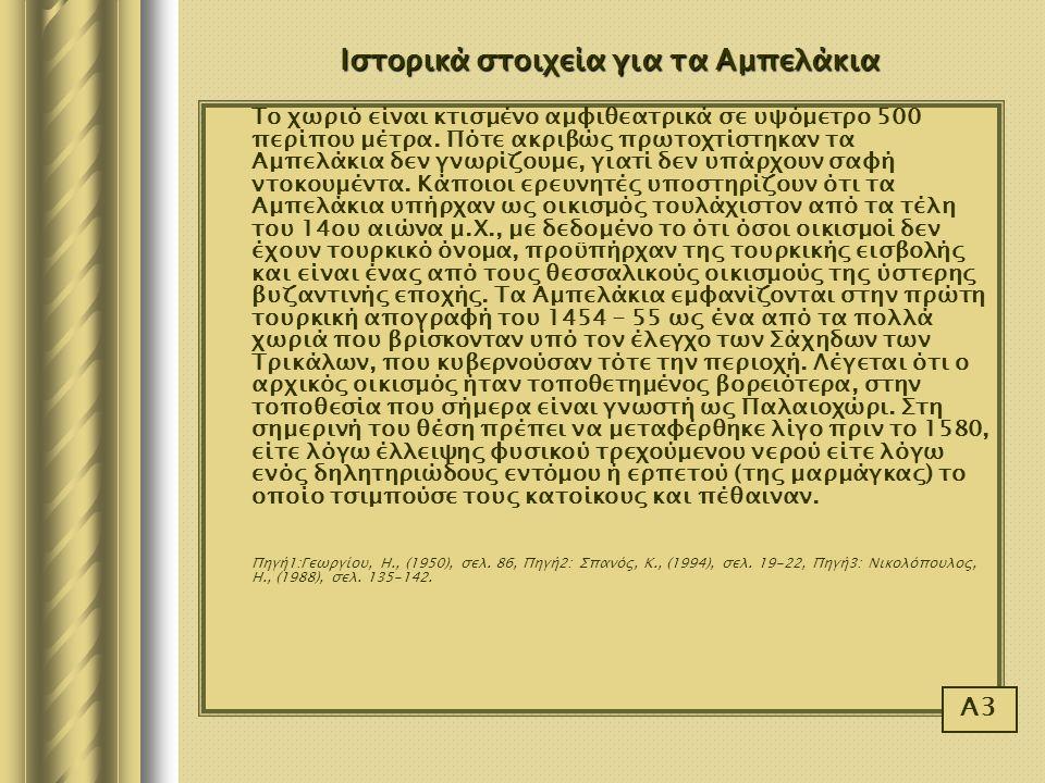 Ιστορικά στοιχεία για τα Αμπελάκια