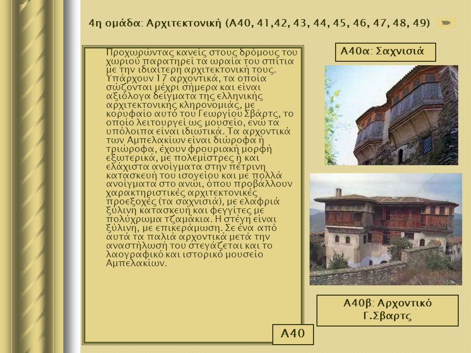 4η ομάδα: Αρχιτεκτονική (Α40, 41,42, 43, 44, 45, 46, 47, 48, 49)