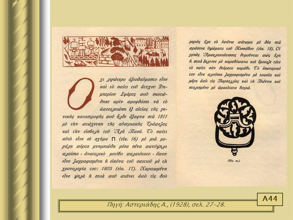 Πηγή: Αστεριάδης Α., (1928), σελ. 27-28.