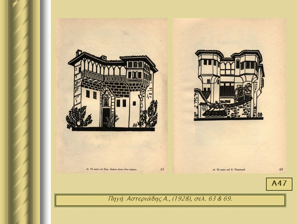 Πηγή: Αστεριάδης Α., (1928), σελ. 63 & 69.