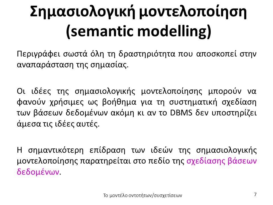 Σημασιολογική μοντελοποίηση (semantic modelling)