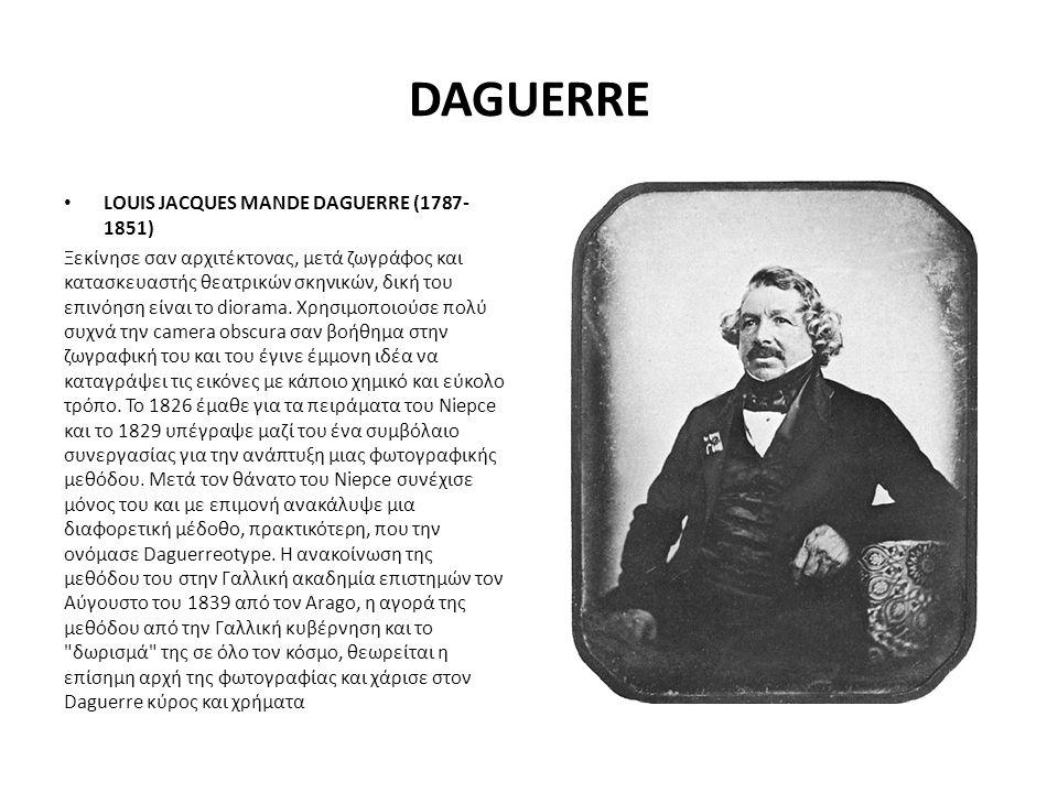 DAGUERRE LOUIS JACQUES MANDE DAGUERRE (1787-1851)