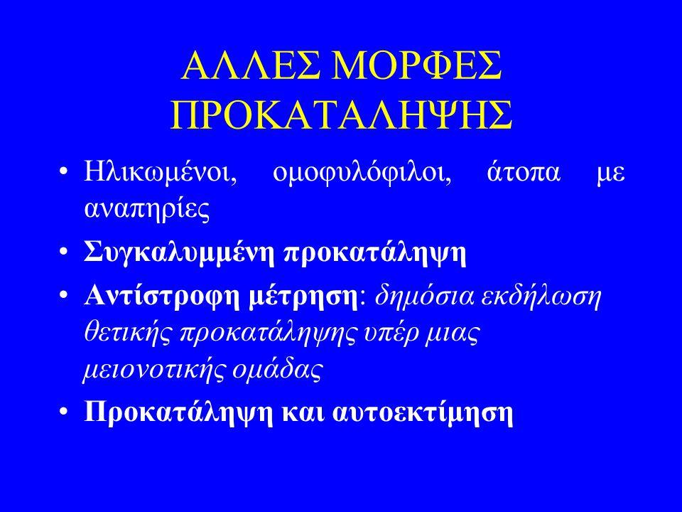 ΑΛΛΕΣ ΜΟΡΦΕΣ ΠΡΟΚΑΤΑΛΗΨΗΣ