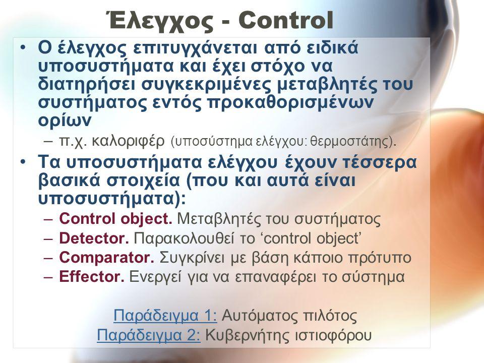 Έλεγχος - Control