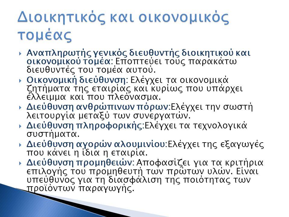 Διοικητικός και οικονομικός τομέας